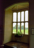 The Oriel Window, South Gallery, Lacock Abbey, Wiltshire, UK